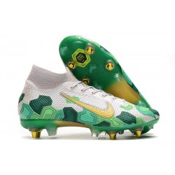 Nike Mercurial Superfly VII Elite SG-PRO AC Mbappé Vast Grey Gold Electro Green
