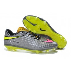 Mens Football Boots Nike Hypervenom Phantom FG Grey Volt Pink