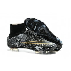 Nike Mercurial Superfly IV FG BHM Mens Football Shoes Black Golden