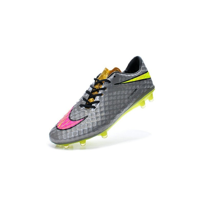 buy popular d8e26 beb45 Mens Football Boots Nike Hypervenom Phantom FG Grey Volt Pink