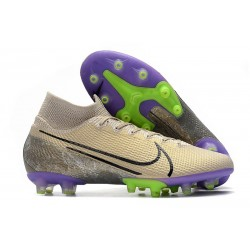 Nike Mercurial Superfly 7 Elite AG-PRO Desert Sand Black Psychic Purple