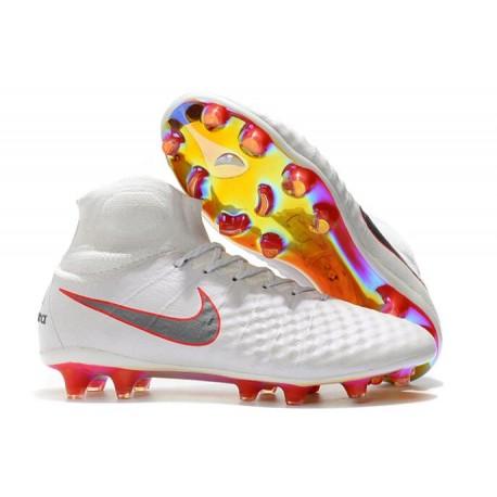 New Top 2016 Nike Magista Obra FG Football Boot White Black Pink