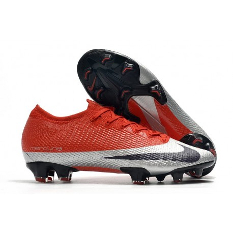 Nike Mercurial Vapor 13 Elite FG Cleats Future DNA Red Silver Black