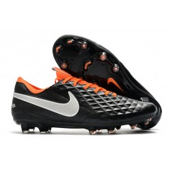 New Nike Tiempo Legend VIII FG Soccer Cleats Black White Orange