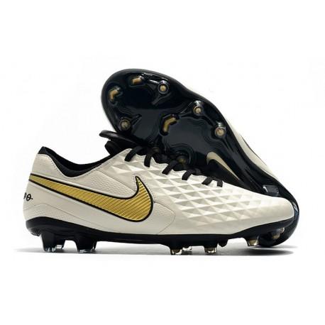 New Nike Tiempo Legend VIII FG Soccer Cleats White Gold