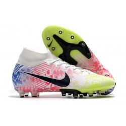 Nike Mercurial Superfly 7 Elite AG-PRO Neymar White Black Blue Volt