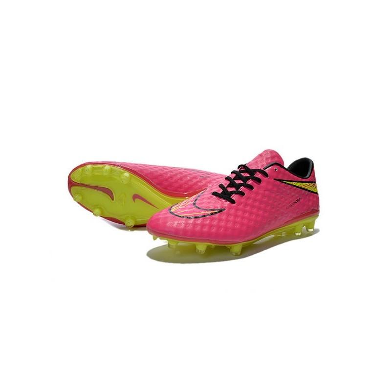 mens football boots nike hypervenom phantom fg hyper pink volt
