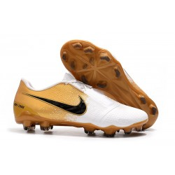 Nike 2020 Phantom Venom Elite FG Gold White Black