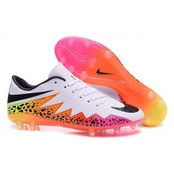 Neymar Nike Hypervenom Phinish FG Firm Ground Soccer Cleats White Pink Black