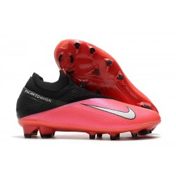 Nike Phantom Vision 2 Elite DF FG Laser Crimson Metallic Silver Black