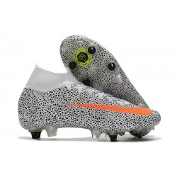 Nike Mercurial Superfly VII Elite SG-PRO CR7 Safari-White Orange Black