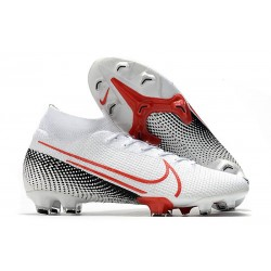 Nike Top Mercurial Superfly 7 Elite FG LAB2 - White Laser Crimson Black