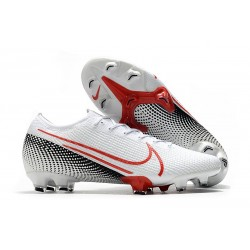 Nike Mercurial Vapor XIII Elite New Firm Ground LAB2 - White Laser Crimson Black