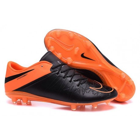Neymar Nike Hypervenom Phinish FG Firm Ground Soccer Cleats Leather Black Orange