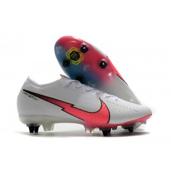 Nike Mercurial Vapor 13 Elite SG Pro Anti-Clog White Red Blue