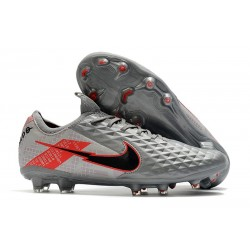 Nike Tiempo Legend 8 FG Kangaroo Leather -Bomber Grey Black Red
