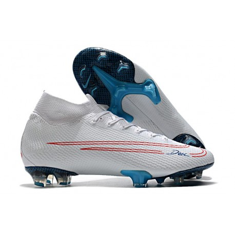 NIKE MERCURIAL SUPERFLY VII ELITE CR7 X BUGATTI -WHITE BLUE SILVER RED