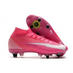 Nike Mercurial Superfly 7 Elite SG PRO AC X Mbappe Pink Blast White