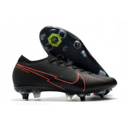 Nike Mercurial Vapor 13 Elite SG Pro Anti-Clog Black Red