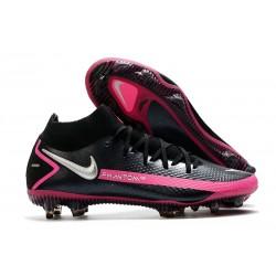 Nike Phantom Generative Texture DF FG Black Pink Blast Metallic Silver