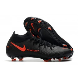 Nike Phantom Generative Texture DF FG Black ChiliRed SmokeGrey