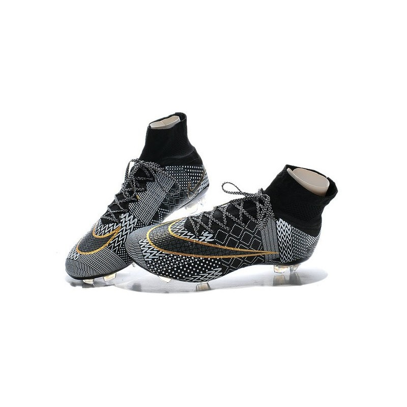 1278a36d6 Nike Mercurial Superfly IV FG BHM Mens Football Shoes Black Golden