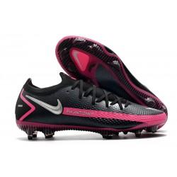 News 2021 Nike Phantom GT Elite FG Black Pink Blast Metallic Silver