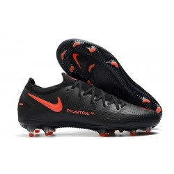 News 2021 Nike Phantom GT Elite FG Black Dark Smoke Grey Chile Red
