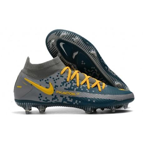 Nike Phantom Generative Texture DF FG Gray Navy Yellow
