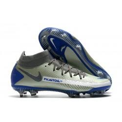 Nike Phantom GT Elite Dynamic Fit FG Boots Grey Blue