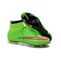 Nike Mercurial Superfly IV FG Mens Football Shoes Green Hyper Punch