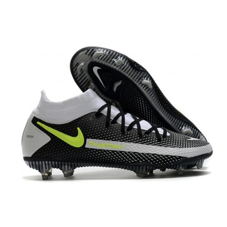 Nike Phantom GT Elite Dynamic Fit FG Boots Black Gray Volt
