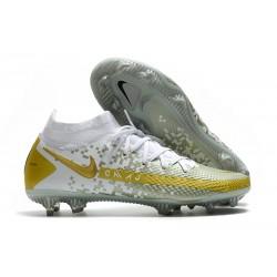 Nike Phantom GT Elite Dynamic Fit FG Boots White Grey Gold