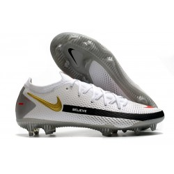Nike Phantom GT Elite FG Soccer Boots White Black Gold Red