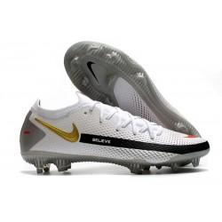 Nike Phantom GT Elite FG Soccer Boots White Black Gold Red