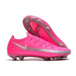 Nike Phantom GT Elite FG Soccer Boots Pink Silver