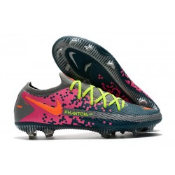 Nike Phantom GT Elite FG Soccer Boots Navy Gray Pink