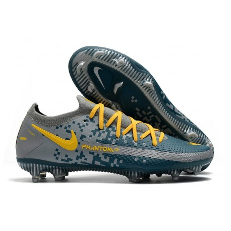 Nike Phantom GT Elite FG Soccer Boots Blue Grey Yellow