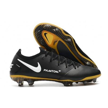 Nike Phantom GT Elite Tech Craft FG Black White Gold