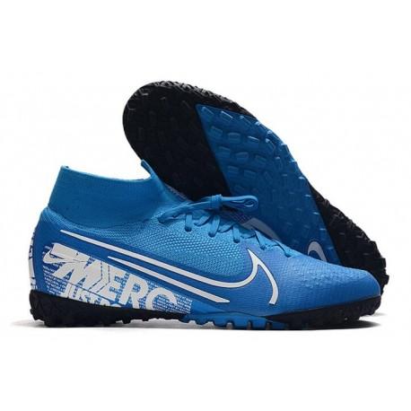 Nike Mercurial Superfly VI Elite TF Football Boot - Blue Black