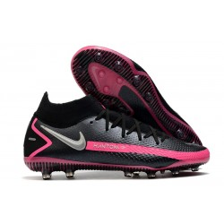 New Nike Phantom GT Elite DF AG-PRO Black Pink Blast Metallic Silver