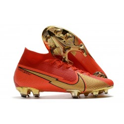 Top Nike Mercurial Superfly 7 Elite DF FG CR100 Ronaldo Red Gold