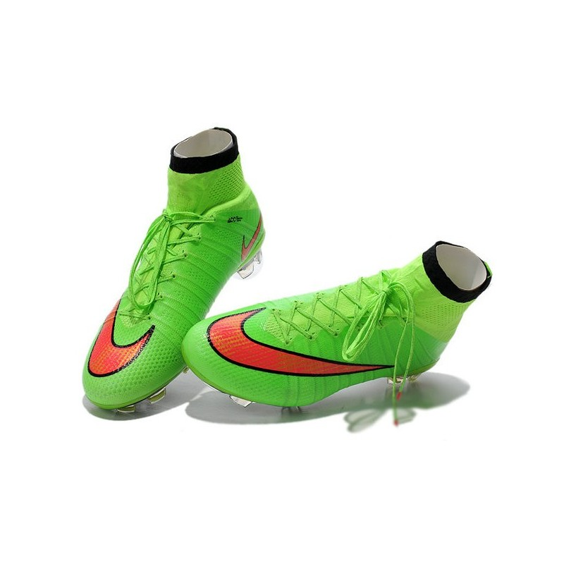 the latest 62a78 d2754 Nike Mercurial Superfly IV FG Mens Football Shoes Green Hyper Punch