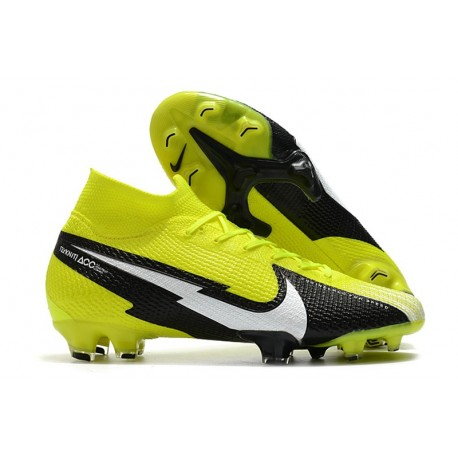 Top Nike Mercurial Superfly 7 Elite DF FG Yellow Black White