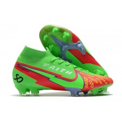 Top Nike Mercurial Superfly 7 Elite DF FG Green Red