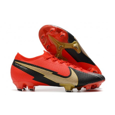 Nike Mercurial Vapor 13 Elite FG ACC Red Black Gold