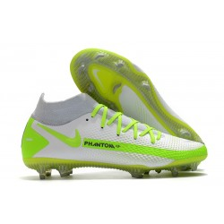 Nike Phantom GT Elite Dynamic Fit FG Boots White Green
